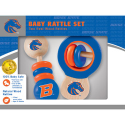 Boise State Real Wood Baby Rattles ( 2-Pack)