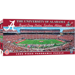 Alabama Crimson Tide 1000 Piece Stadium Panoramic Jigsaw Puzzle
