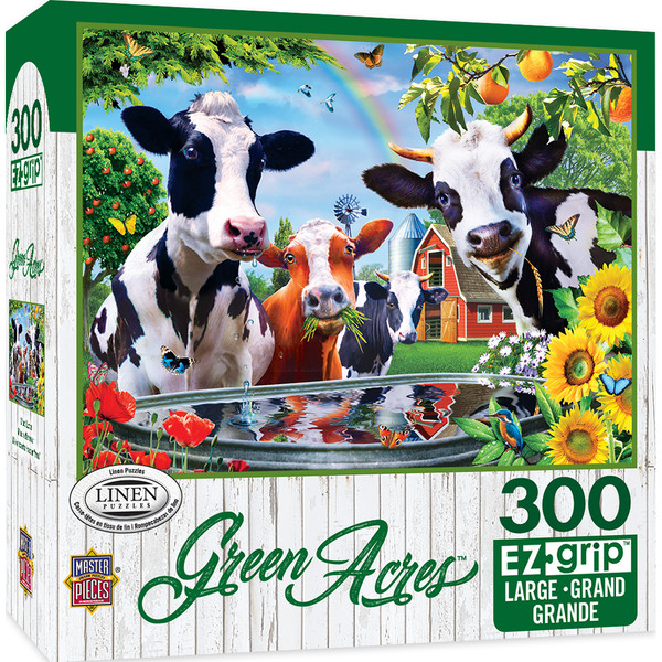 Green Acres Linen - Moo Love Large 300 Piece EZGrip Jigsaw Puzzle