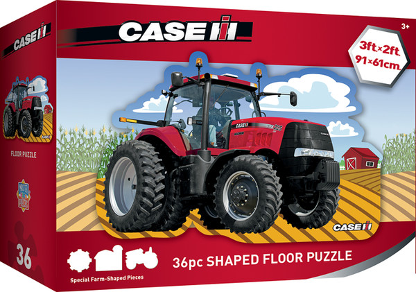 Case IH Red Tractor - 36 Piece Kids Shaped Floor Puzzle