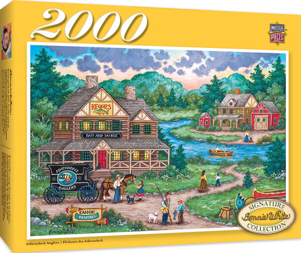 Signature Series - Adirondack Anglers 2000 Piece Jigsaw Puzzle by Bonnie White