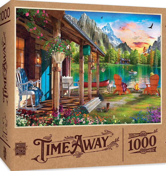 Time Away Evening on the Lake - 1000 Piece Jigsaw Puzzle by Dominic Davison