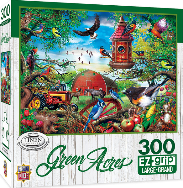 Green Acres Linen - Farmland Frolic Large 300 Piece EZGrip Jigsaw Puzzle