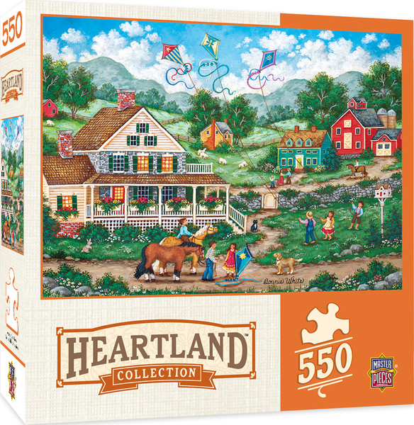 Heartland Collection Crosswinds - 550 Piece Jigsaw Puzzle by Bonnie White