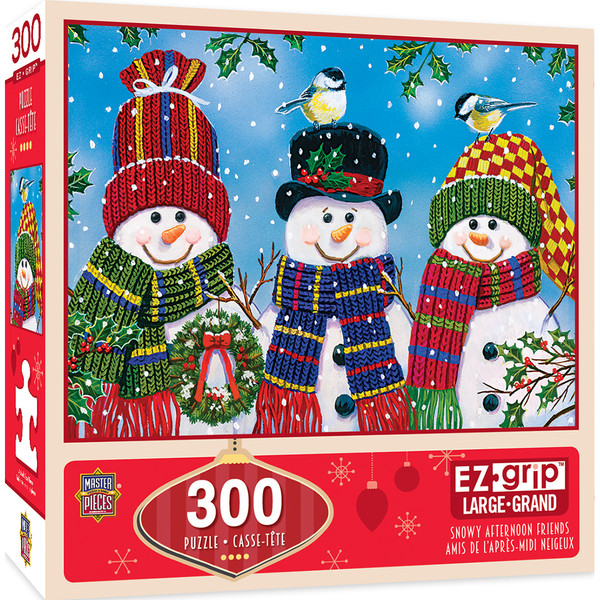 Holiday Snowy Afternoon Friends 300 Piece EZ Grip Puzzle