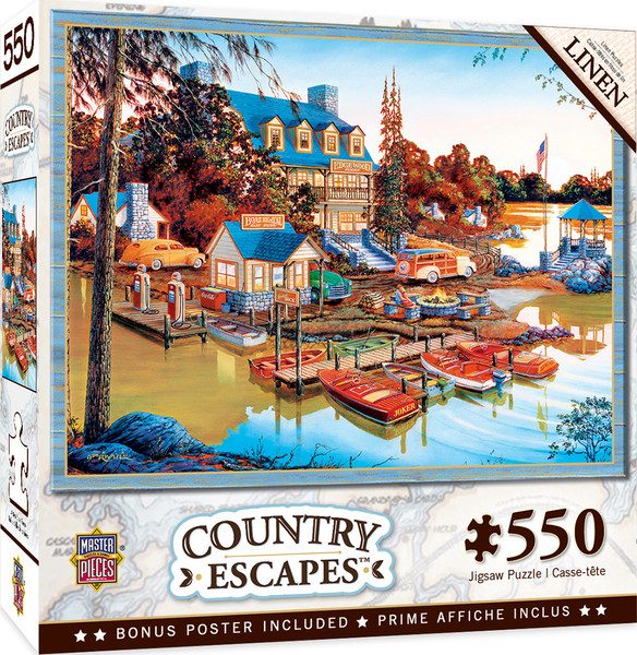 Country Escapes - Peaceful Easy Evening - 550 Piece Linen Jigsaw Puzzle