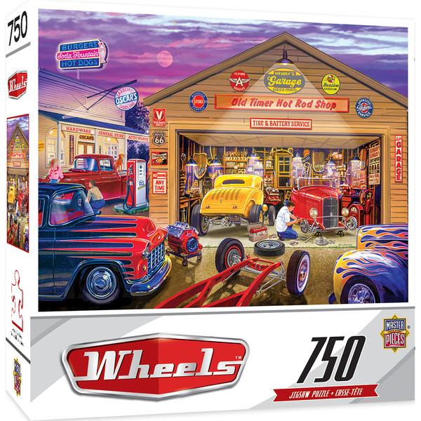 Wheels - Old Timer's Hot Rods - 750 Piece Jigsaw Puzzle