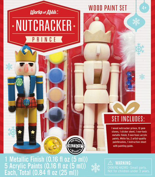 Nutcracker Prince Holiday Wood Paint Kit