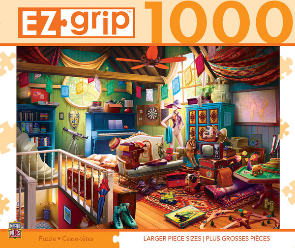1000pc EZGrip Attic Treasures Large 1000 Piece Jigsaw Puzzle