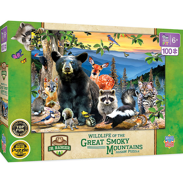 National Parks - Great Smoky Mountains Right Fit 100 Piece Kids Puzzle