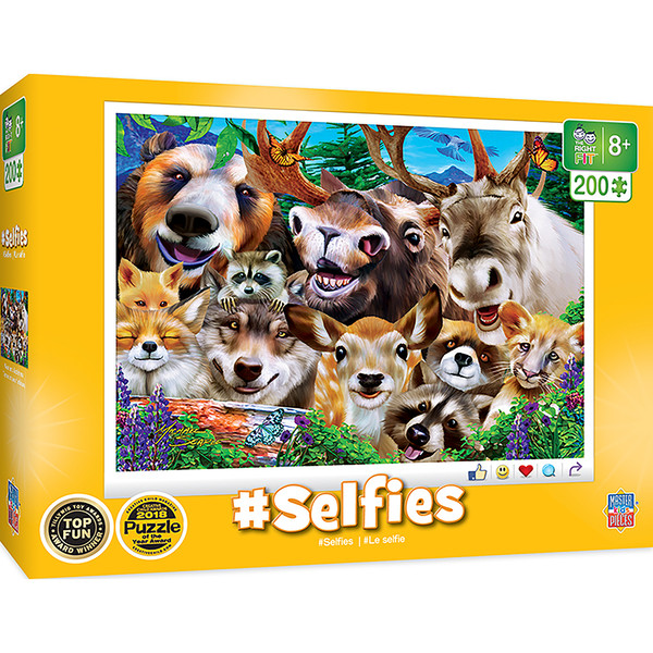 Selfies - Woodland Wackiness Right Fit 200 Piece Kids Puzzle