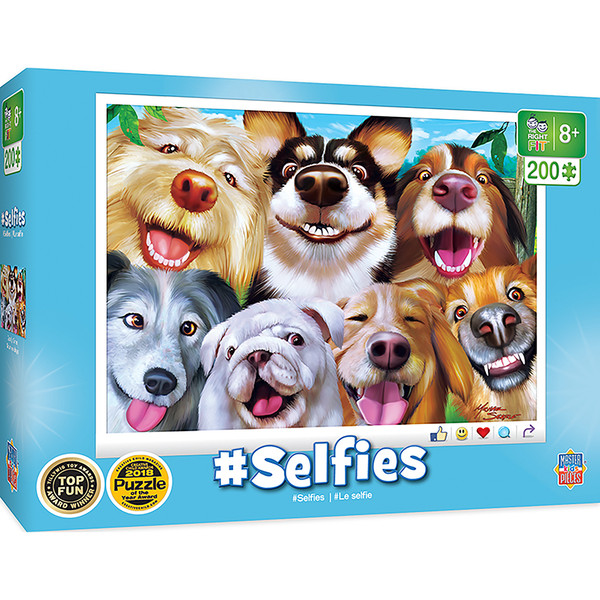Selfies - Goofy Grins Right Fit 200 Piece Kids Puzzle