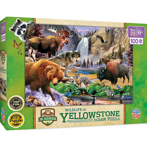 National Parks - Yellowstone Right Fit 100 Piece Kids Puzzle