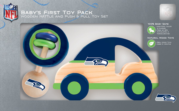 Seattle Seahawks Patriots Push & Pull And Rattle Combo