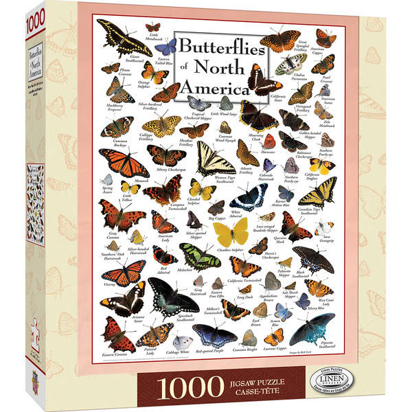 Poster Art - Butterflies of North America 1000 Piece Jigsaw Puzzle