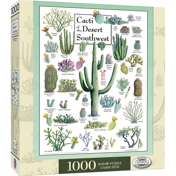 Poster Art - Cacti of the Desert Southwest 1000 Piece Jigsaw Puzzle