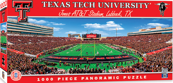 Texas Tech Red Raiders 1000 Piece Stadium Panoramic Puzzle