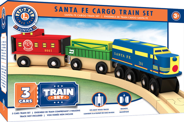 Lionel Santa Fe  Engine and Cargo Wood Train Set