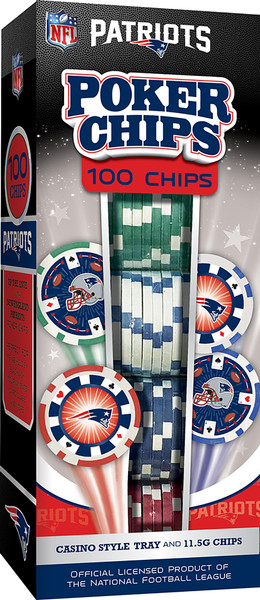 New England Patriots Poker Chips 100pc