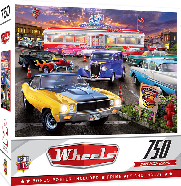 Wheels - Runner's Up - 750 Piece Jigsaw Puzzle