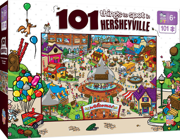 101 Things to Spot in Hersheyville - Right Fit - 101 Piece Kids Puzzle