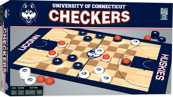 Connecticut Basketball Checkers Board Game