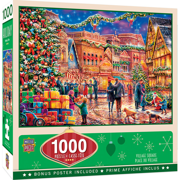 Holiday - Village Square 1000 Piece Jigsaw Puzzle
