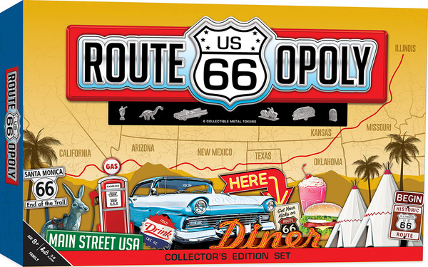 Route 66 Opoly Board Game