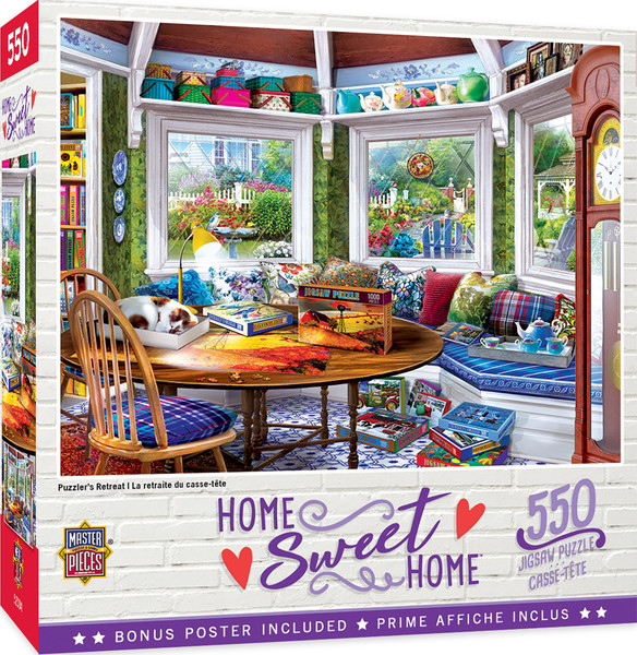 Home Sweet Home - Puzzler's Retreat 550 Piece Puzzle