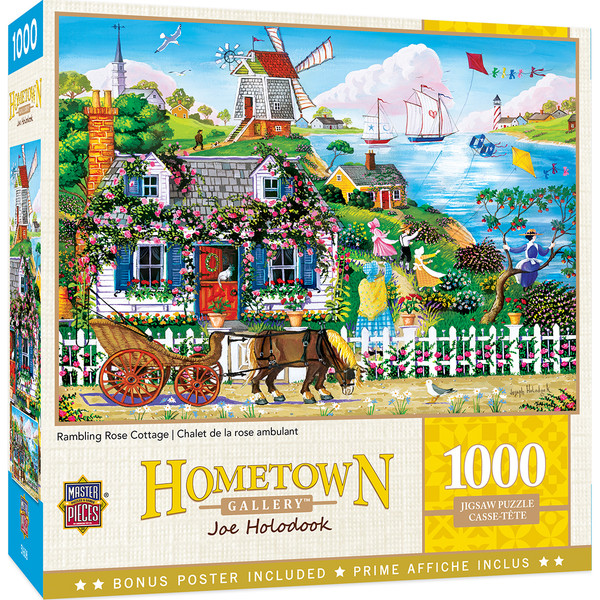 Hometown Gallery - Rambling Rose Cottage 1000 Piece Puzzle