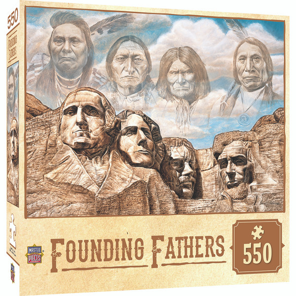 Tribal Spirit - Founding Fathers - Mt. Rushmore 550 Piece Jigsaw Puzzle