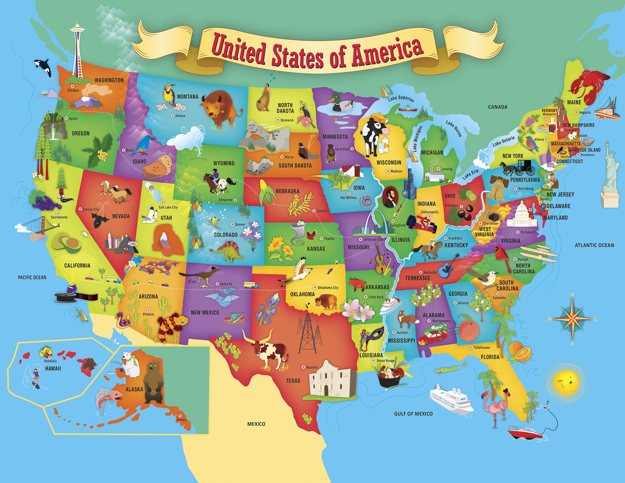 Explorer Kids - USA Map - 60 Piece Kids Puzzle on map spain, united states maps usa, population pyramid for usa, map france, road map usa, map of usa east coast, travel for usa, weather for usa, map services, elevation for usa, coat of arms for usa, minneapolis usa, map singapore, map new zealand, state bird for usa, flag for usa, code for usa, map of usa with states and cities, calendar for usa, map india,