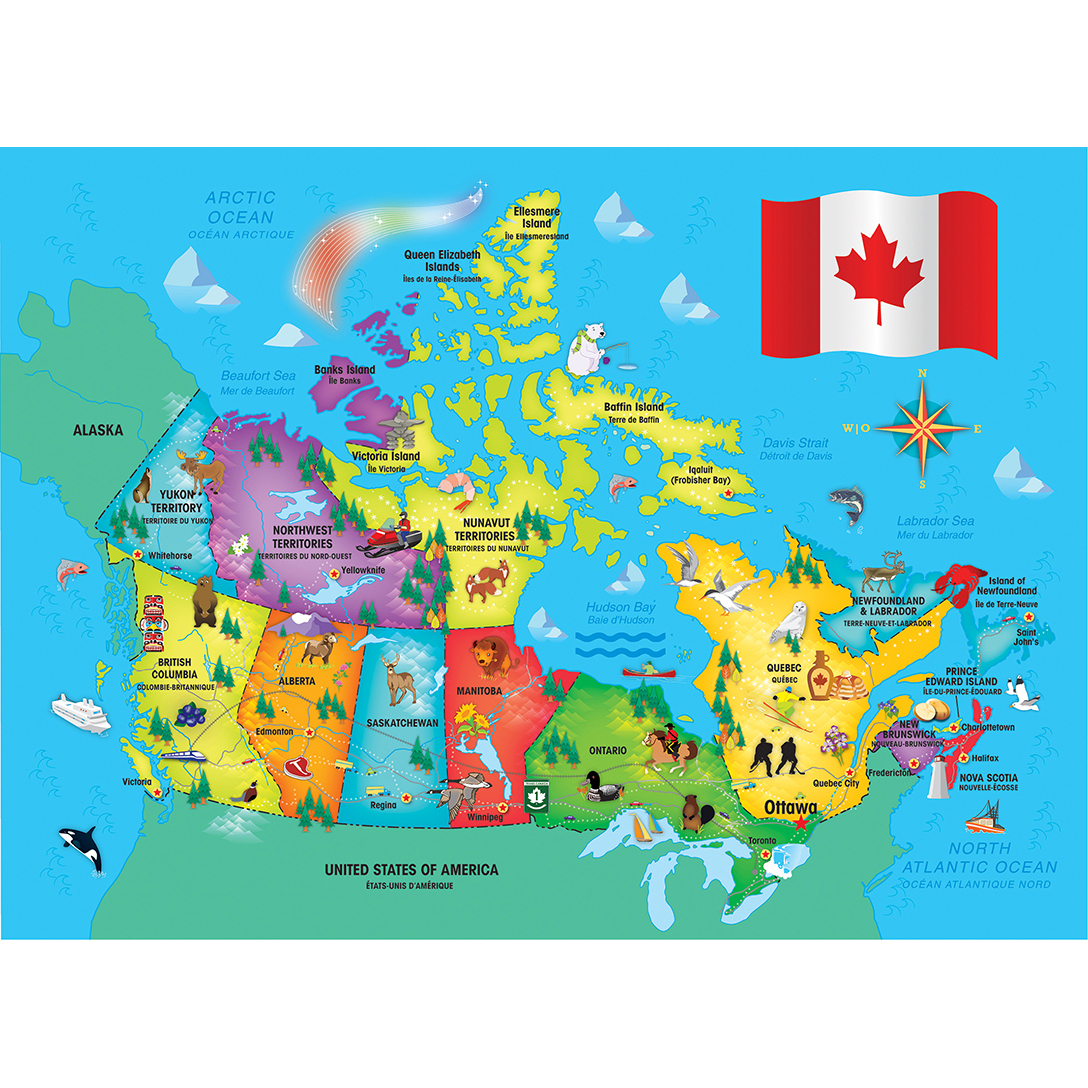 Explorer Kids - Canadian Map - 60 Piece Kids Puzzle on africa map, the british isles map, alaska map, china map, canadian shield map, brazil map, europe map, ontario map, canadian provinces map, argentina map, texas map, chile map, portugal map, cyprus map, peru map, bc map, british columbia map, russia map, australia map, time zone map, greece map, czech republic map, dominican republic map, france map, california map, croatia map, usa map, alberta map, ireland map, germany map, quebec map, italy map, united states map, belgium map, united kingdom map, world map, great lakes map,