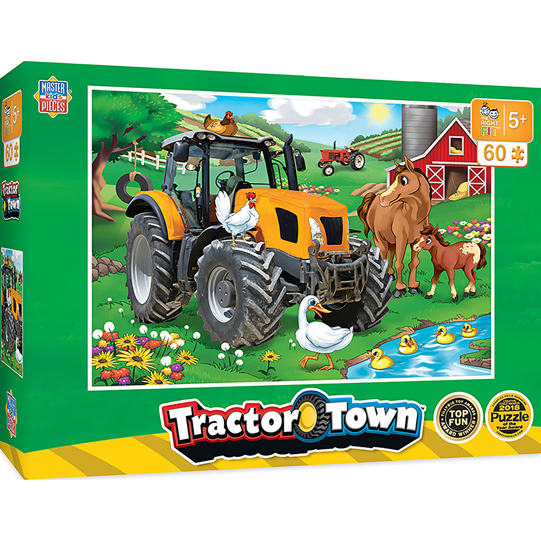 Tractor Town Farmer Miller S Pond Tractors 60 Piece Kids Puzzle