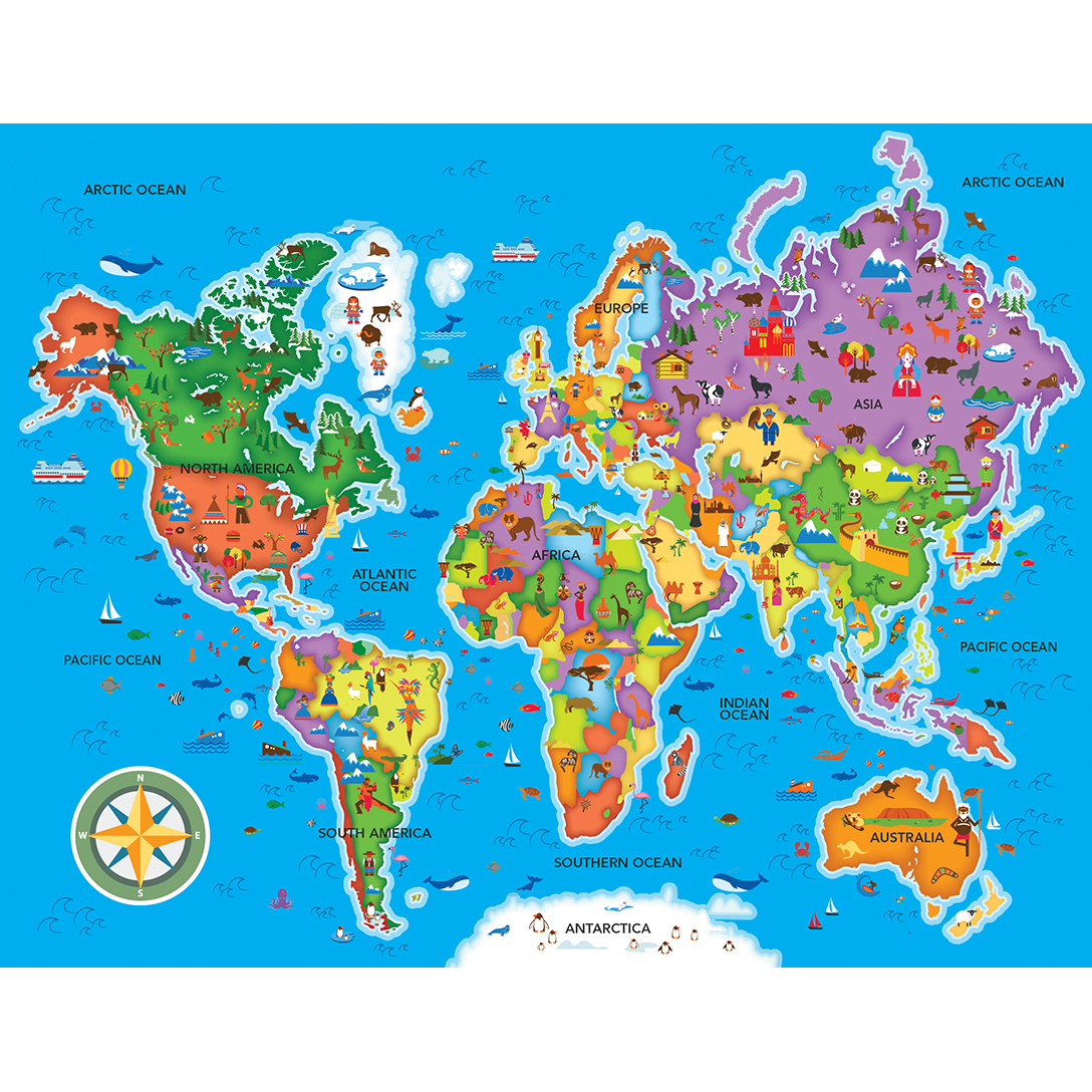 Map Of Australia Jigsaw Puzzle.Educational Maps World Map 60 Piece Jigsaw Puzzle