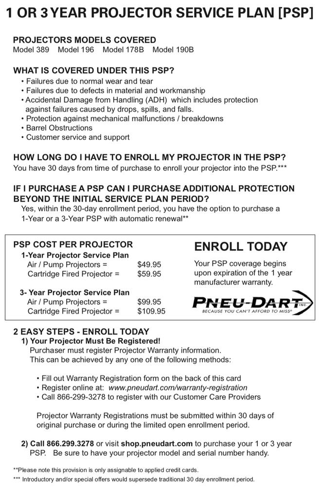 Projector Service Plan