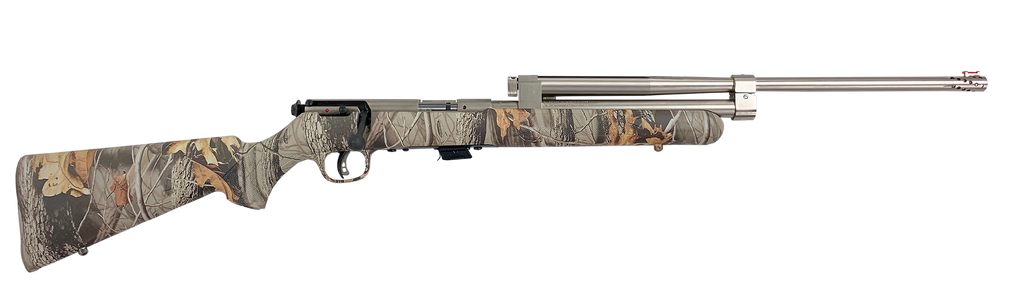 Model 196 (Camo Stock, Electroless-Nickel Assembly, Without Optics)