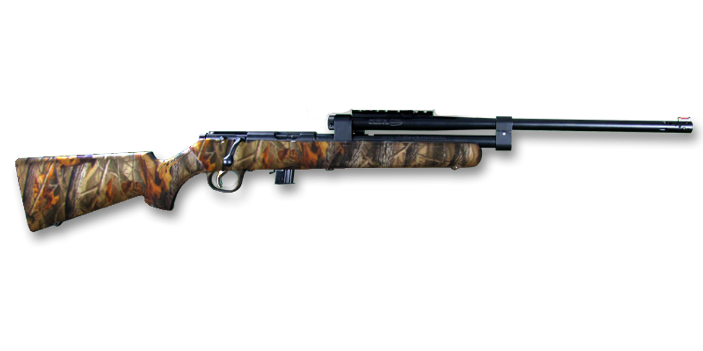 Model 196 (Camo Stock, Blued Assembly, Without Optics)
