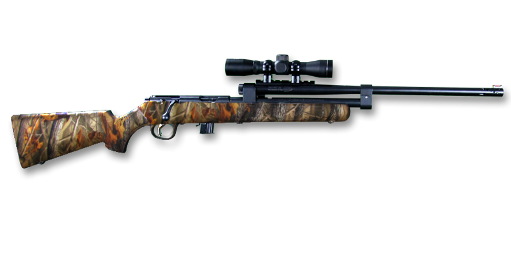 Model 196 (Camo Stock, Blued Assembly, Scope)