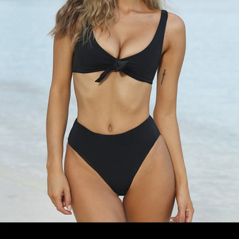 Brazilian Bikinis Set with a Sexy Ribbon Tie Top