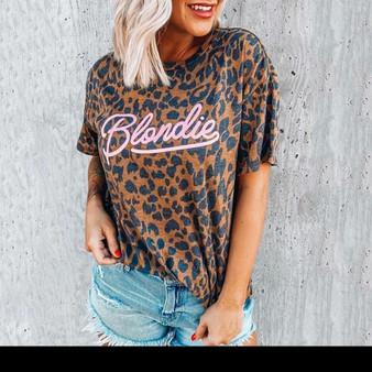 Leopard Print T-shirt - Rock n Roll Design