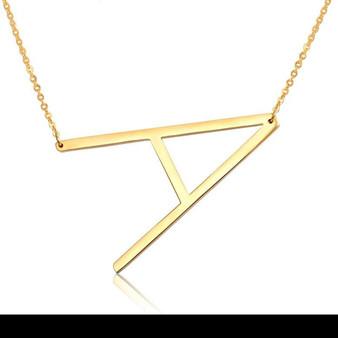 Elegant Alphabet Necklace - Choose Your Letter