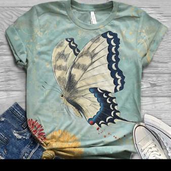 Cute Butterfly Print T-Shirt