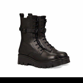 Black Leather Boot by Valentino - Cover