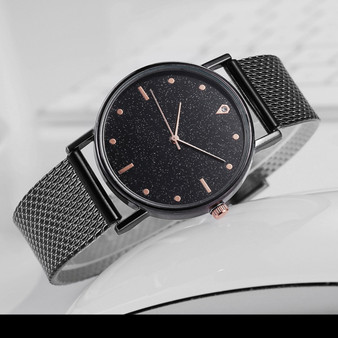 Spray Paint Art Watch in Black  - Quartz Movement, Shop Inspo Style Cover