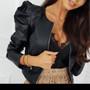 Rock Chick Black Faux Leather Jacket
