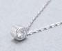 Gorgeous Classic Moissanite Pendant - Round Cut Design, Close-up shot