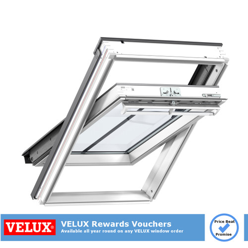 VELUX conservation roof window white painted