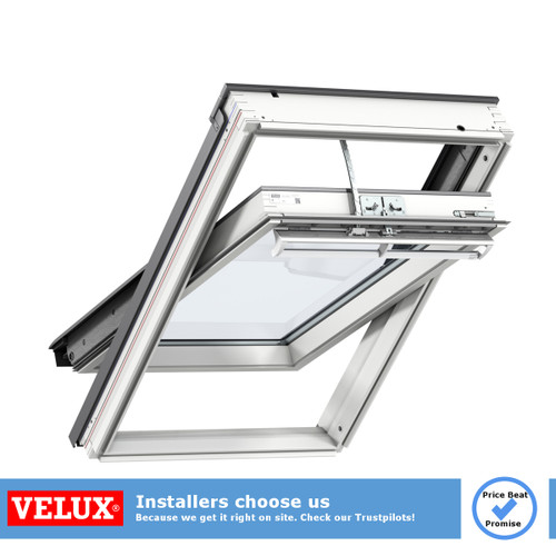 VELUX White Painted Pine Solar INTEGRA® Roof Window