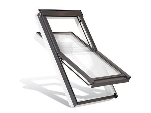 YARDLITE AAX Centre-Pivot Unvented White Pine Roof Window